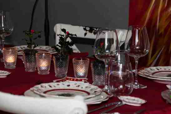 detalles velas mesas