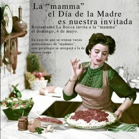 """La """"mamma"""" come gratis en La Bocca el domingo 4"""