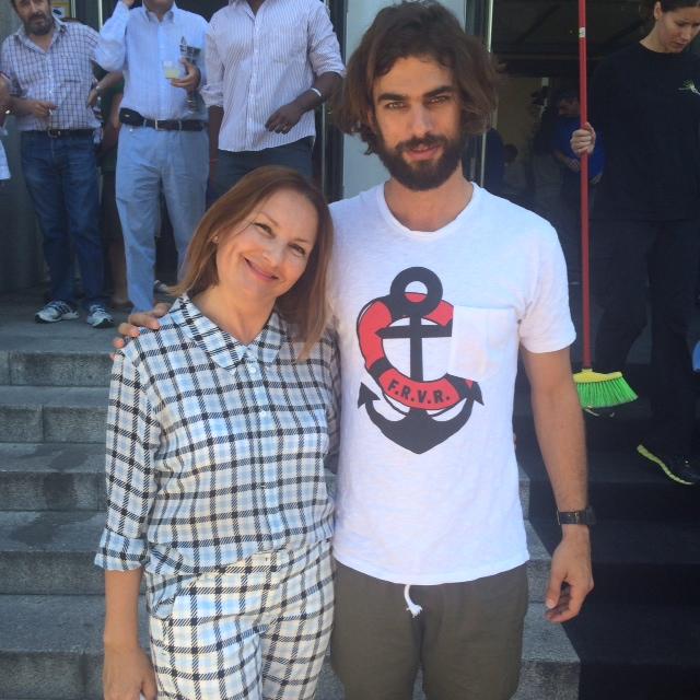 Yolanda Campaña con el modelo Spyros Chistopoulos